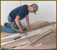 One of our hardwood flooring, Denver experts.